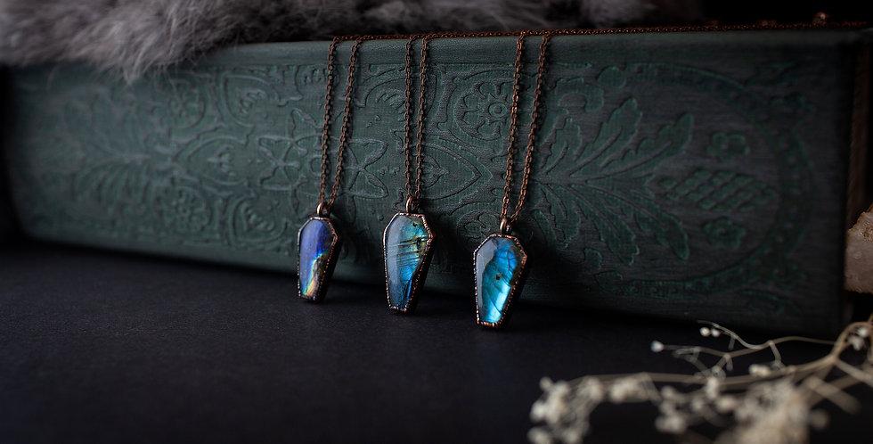 Labradorite Coffin Necklace