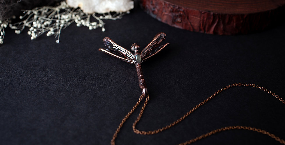 Labradorite Dragonfly Necklace