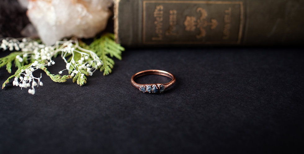 Blue Sapphire Ring - Size 9 3/4