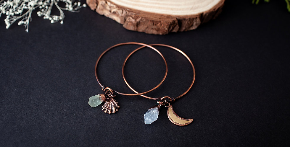 Crystal Charm Bracelet Set