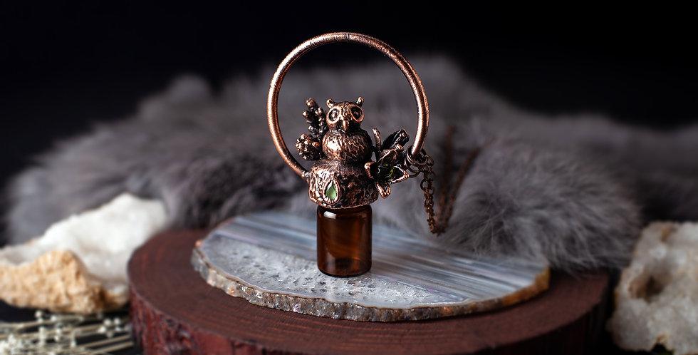 Essential Oil Owl Pendant