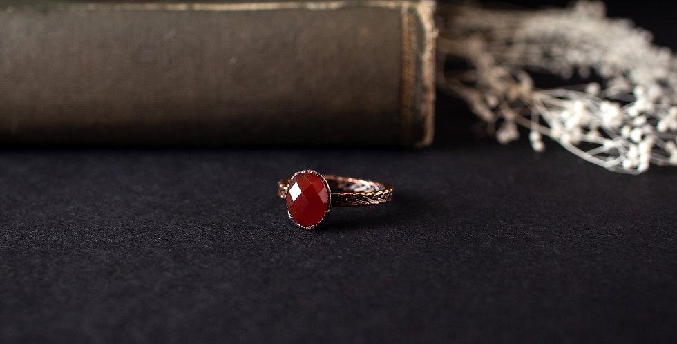 Carnelian Ring - Size 8 1/2