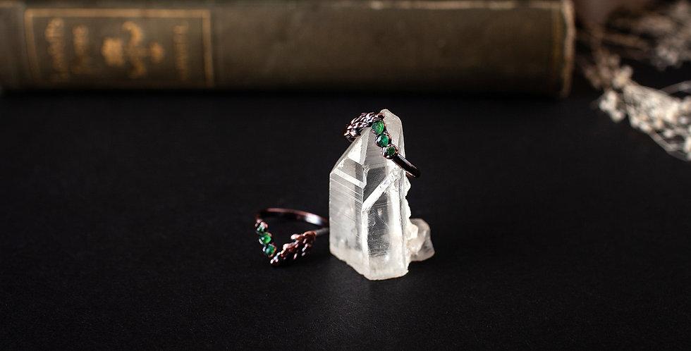 Emerald Chevron Ring