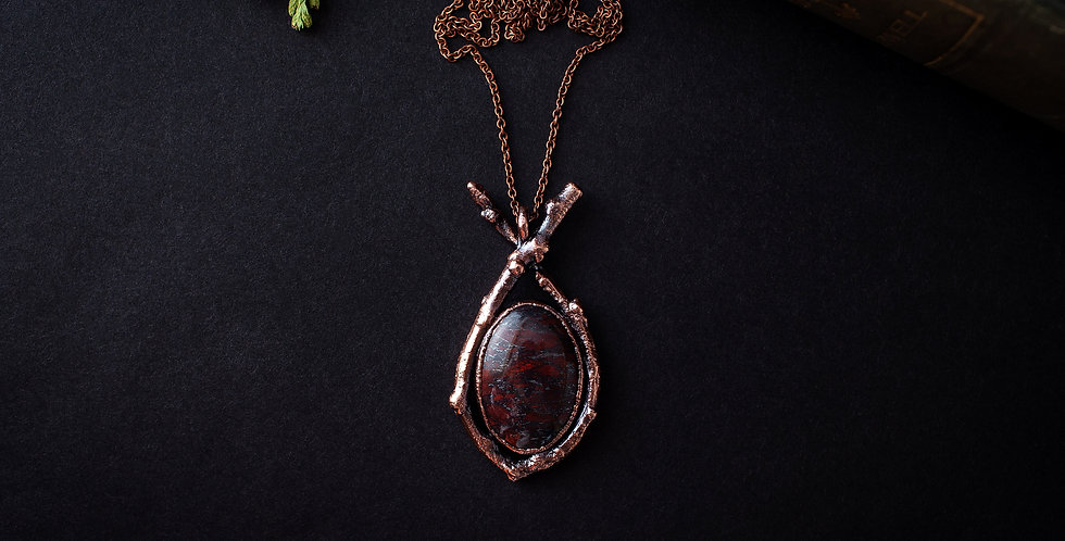 Brecciated Jasper Twig Pendant