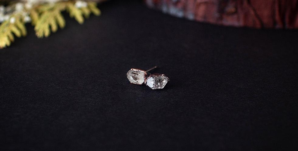Raw Herkimer Diamond Studs