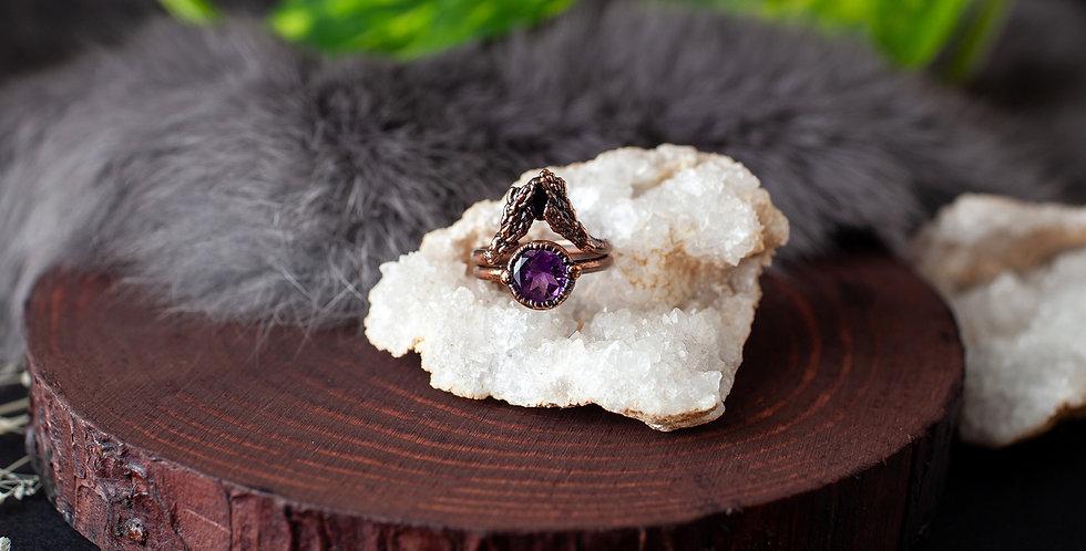 Amethyst Ring Set - Size 6