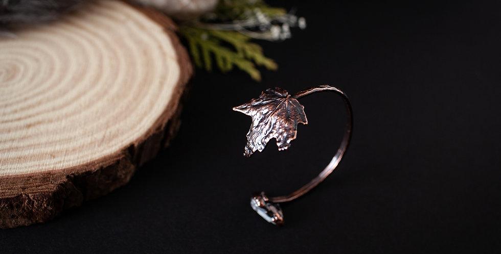 Blue Celestite Leaf Bracelet / Small