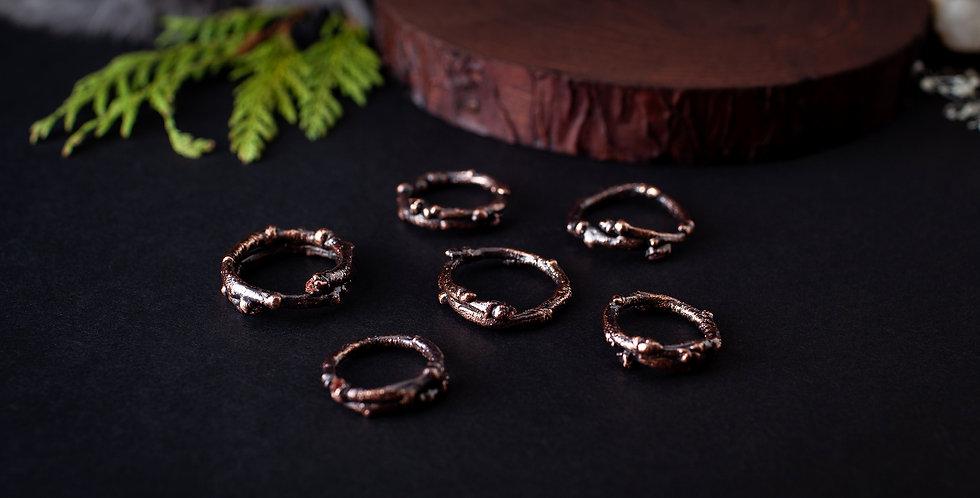 Diamond Quartz Twig Ring