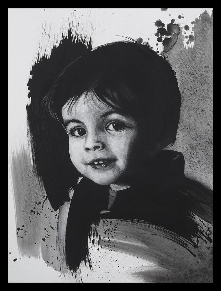 Le jeune garçon Portrait de commande