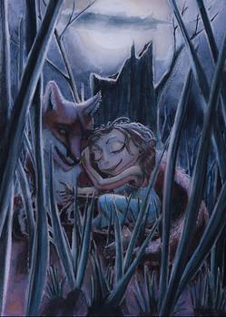Rêve d'enfant au clair de lune