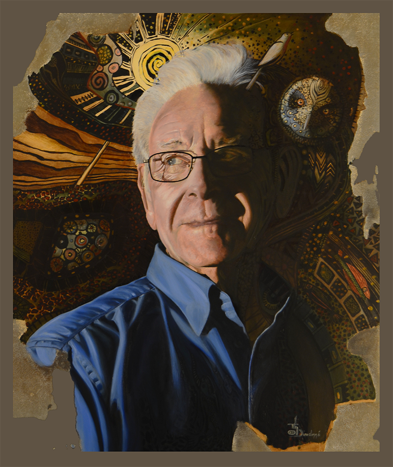 Portrait à l'huile 65 x 65 cm