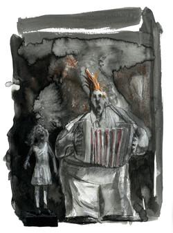 La fillette et l'accordéoniste