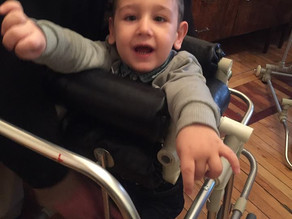 Ruben Received his Walker Today!