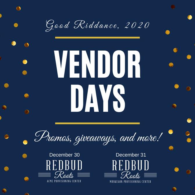 NYE 2020 Vendor Day Promotions