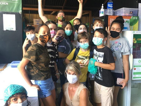 FRENCH STUDENT VISIT TO SOS BALI RESCUE KITCHEN