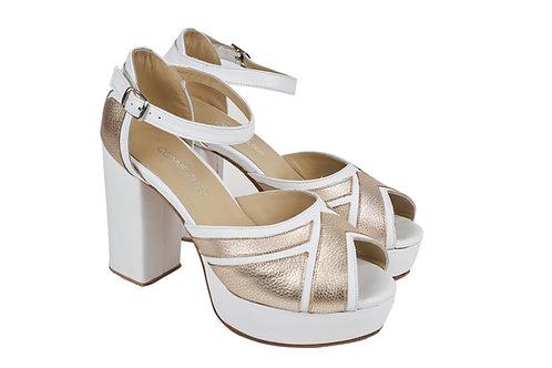 Stripe Blanco & Dorado