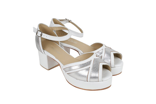 Stripe Blanco & Plata