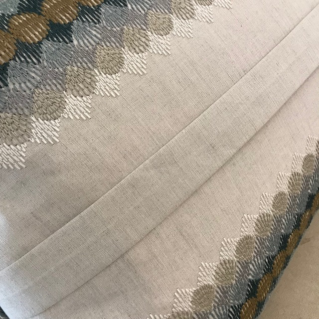 Closeup of sham with box pleat