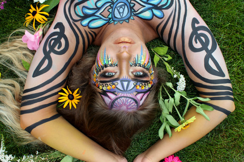Chakra and Floral Body art