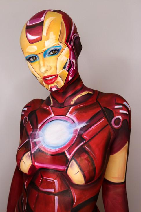 Iron Man Body Paint