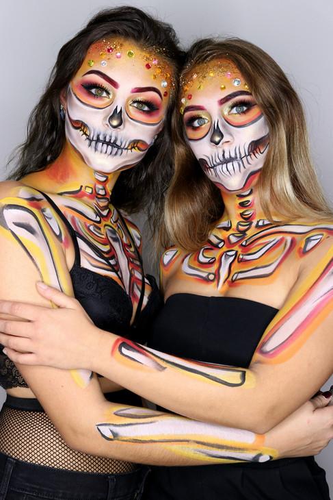 Halloween Skeleton Makeup Best Friends