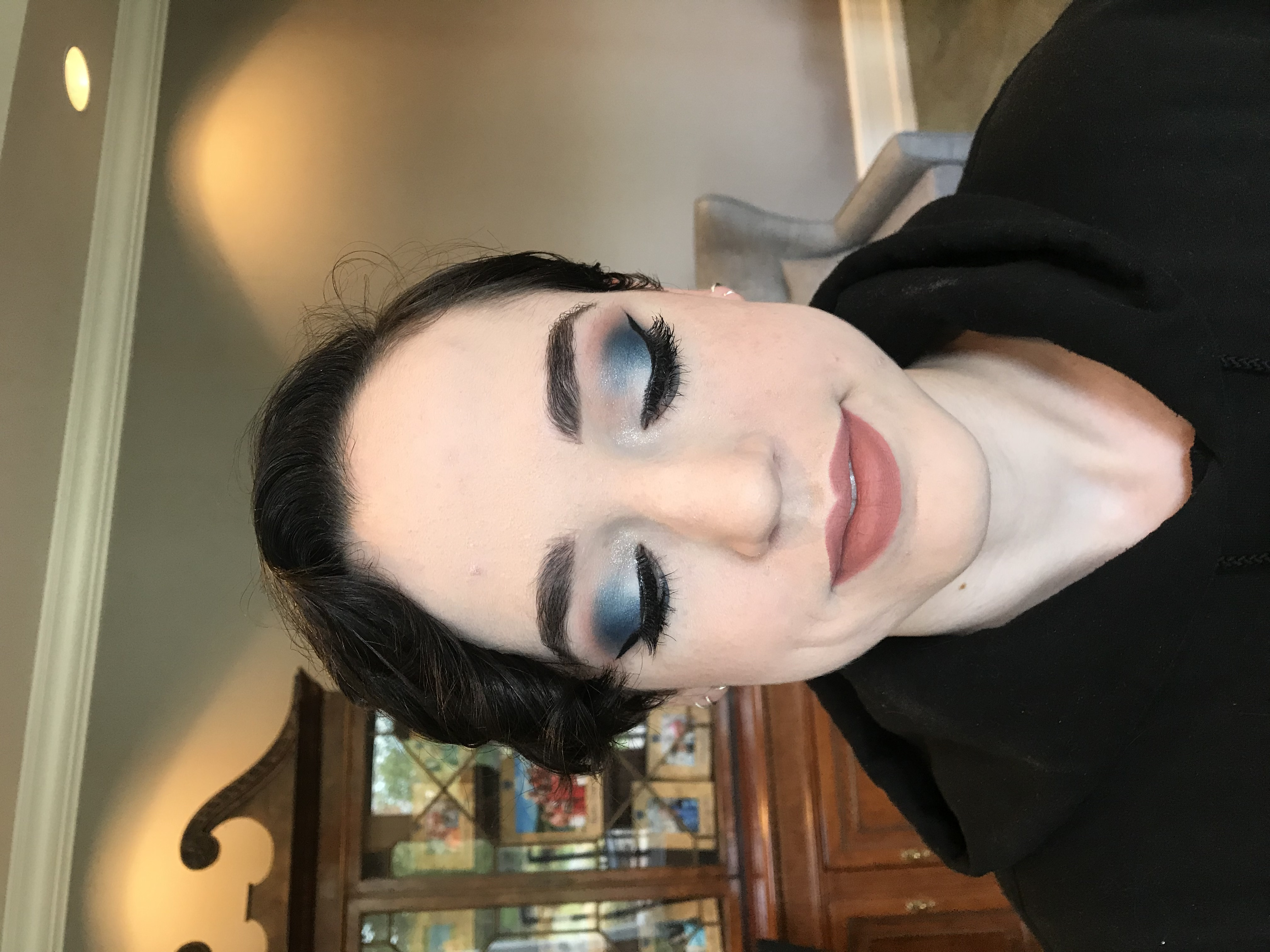 Smokey Blue Eye Makeup Cleveland