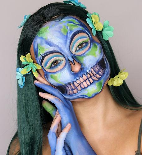 Earth Skull Body Paint