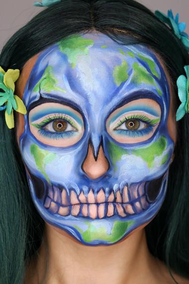 Earth Skull Makeup