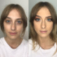 Before and after makeup Cleveland