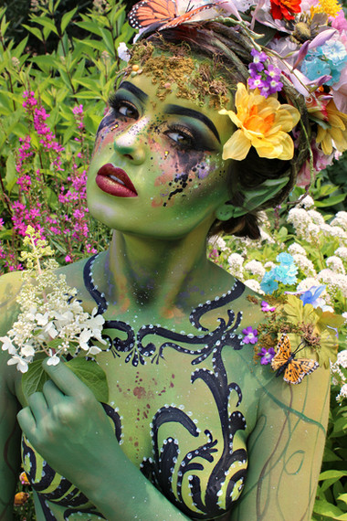 Floral Body Art Fairy
