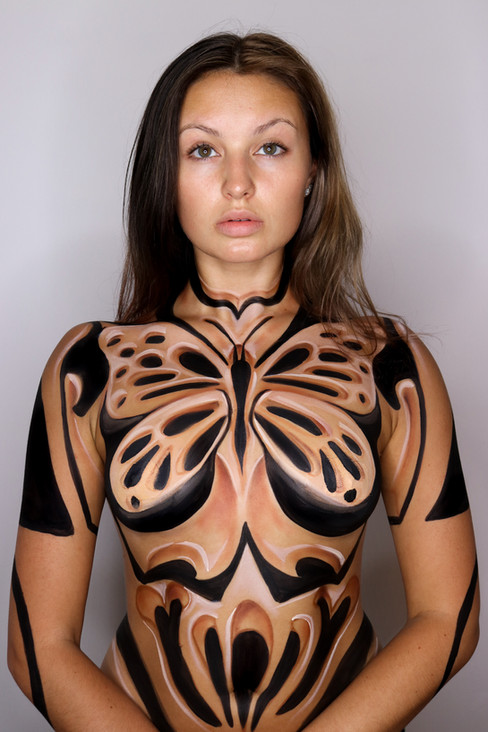 Carved Illusion Body Paint