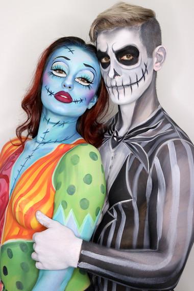 Jack and Sally Nightmare Before Christmas Makeup