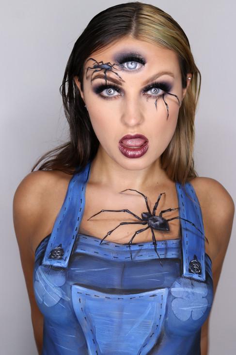 Spider Illusion makeup