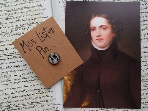 Winking Anne Lister Pin