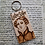 Thumbnail: Lister Sister ... Handburnt Keyring Gentleman Jack Anne Lister