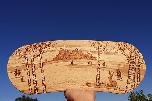 The Snow Hare Pyrography Wood Burning