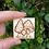 Thumbnail: Mushroom Toadstool Fungi brooch pin hand burnt pyrography