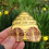 Thumbnail: 2 Wooden Bee Buttons.. Save the Bees Plant some Seeds