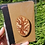 Thumbnail: Tree notebook and pencil made from recycled newspaper hand burnt pyrography