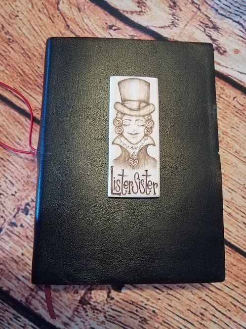 Lister Sister gentleman jack Anne Lister black leather Diary/journal