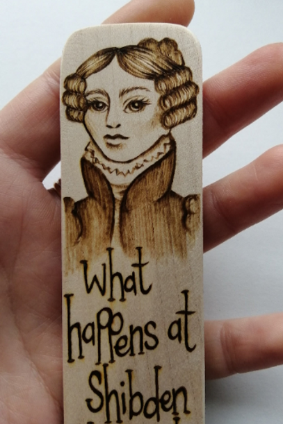 What happens at Shibden...Gentleman Jack...handmade bookmark
