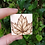Thumbnail: Leaf brooch pin hand burnt pyrography