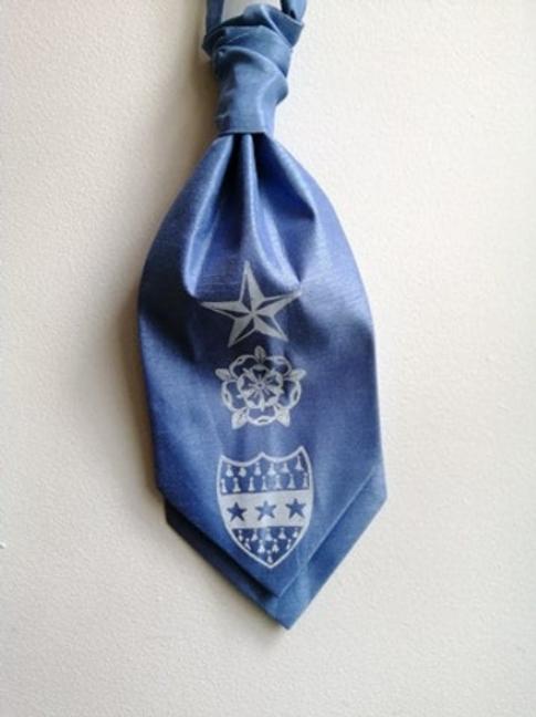 Anne Lister Gentleman Jack Lister Sister Blue Dupion (Raw Silk) Pre-Tied Cravat