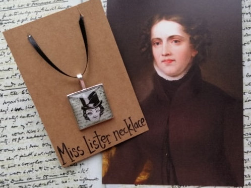 Winking Anne Lister Square Necklace