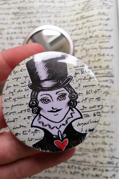 Anne Lister Pocket Mirror