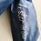 Thumbnail: Anne Lister Gentleman Jack Lister Sister Blue Dupion (Raw Silk) Pre-Tied Cravat
