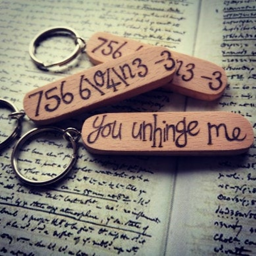 You Unhinge Me Anne Lister Gentleman Jack Inspired Key Ring Pyrography Wood Burn