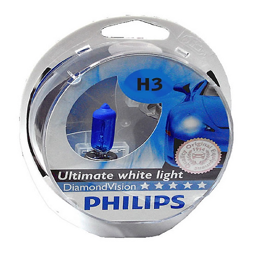 LÂMPADA DE FAROL H3 12/55W DIAMOND VISION PHILIPS