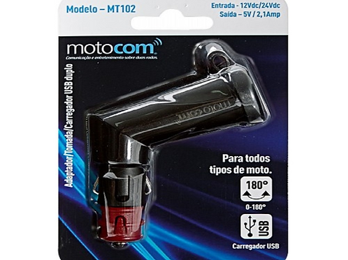 TOMADA USB MOTOCOM MODELO MT102
