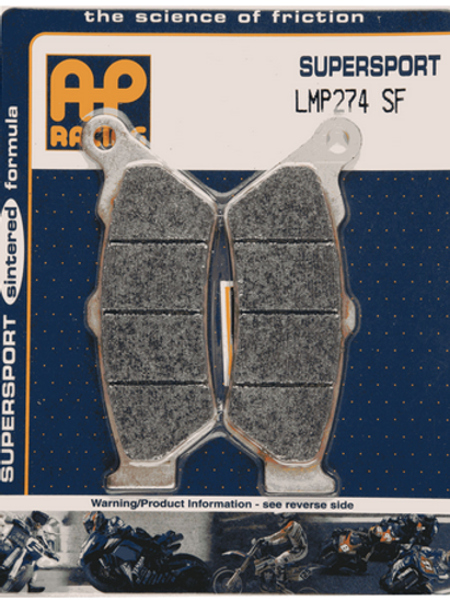 Pastilha de freio dianteira AP Racing sinterizada HH LMP 274 SF